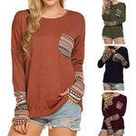 Women's Patchwork Casual Top