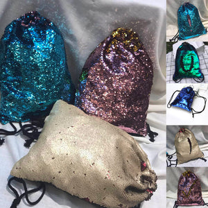 Sequins Drawstring Backpack Multiple Colors