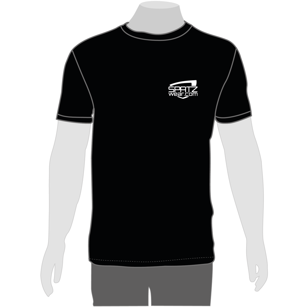 SPATZWEAR BLACK T SHIRT #thanks4coming