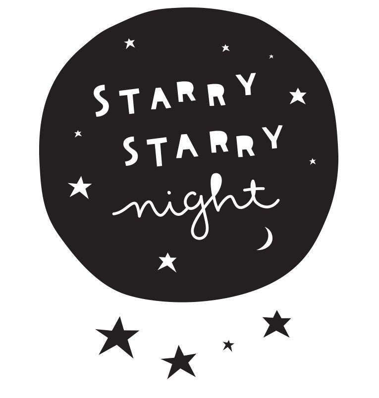 "Wandsticker ""Starry Night"" - welovebubbles"