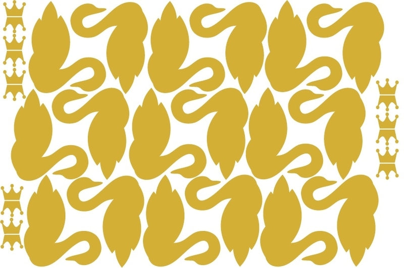 "Wandsticker ""Schwan"", gold - welovebubbles"