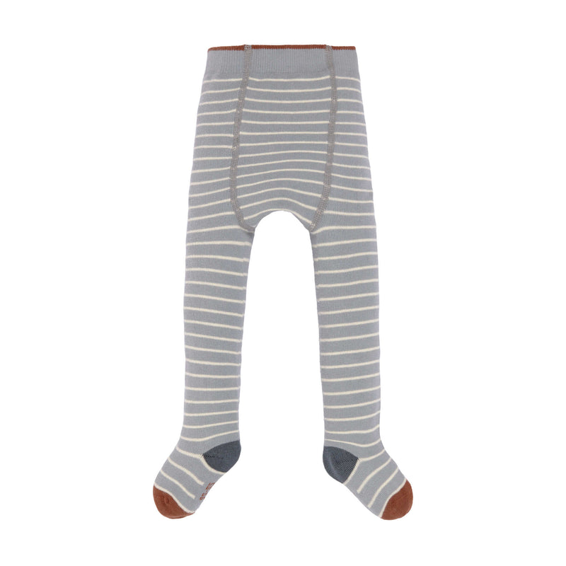 Strumpfhose - Tights GOTS, Tiny Farmer, Striped Orange Grey White - Lässig