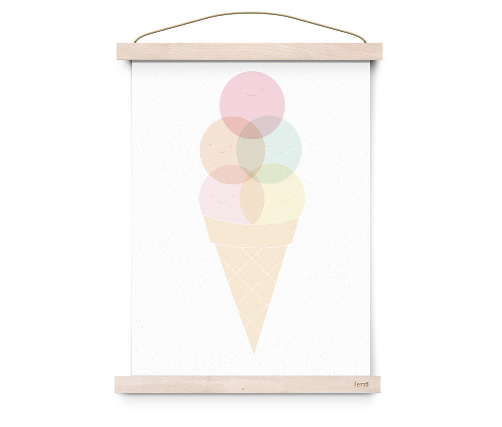 "Poster ""Cone Crazy"" - welovebubbles"
