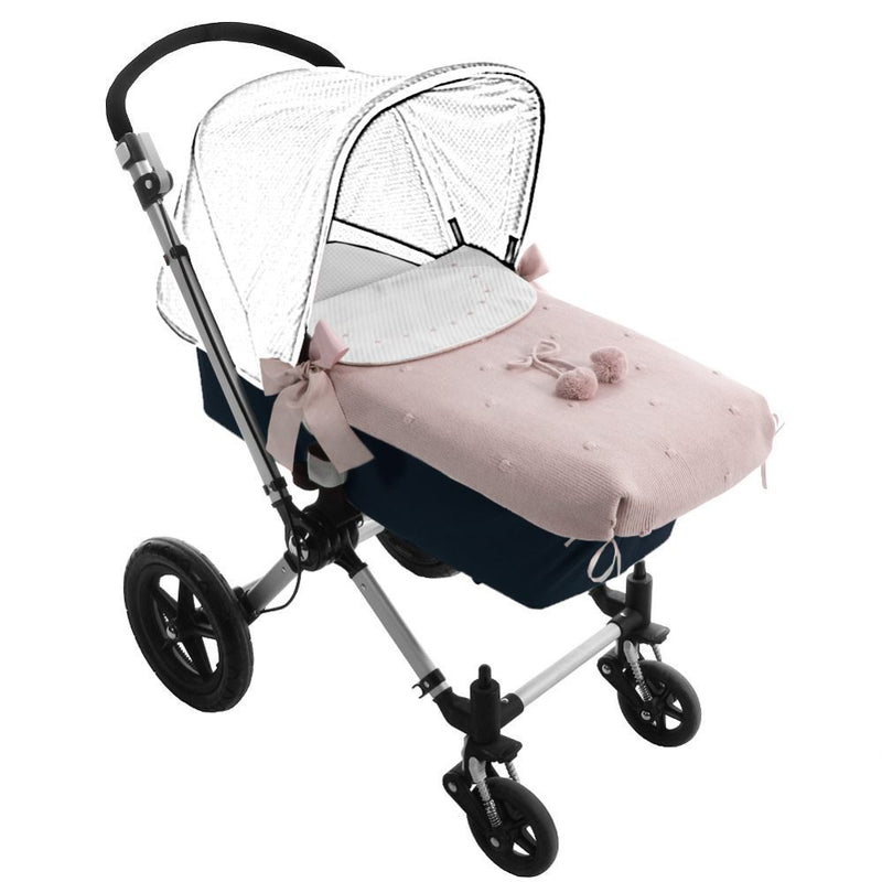 Kinderwagen-Cover, rosa - welovebubbles
