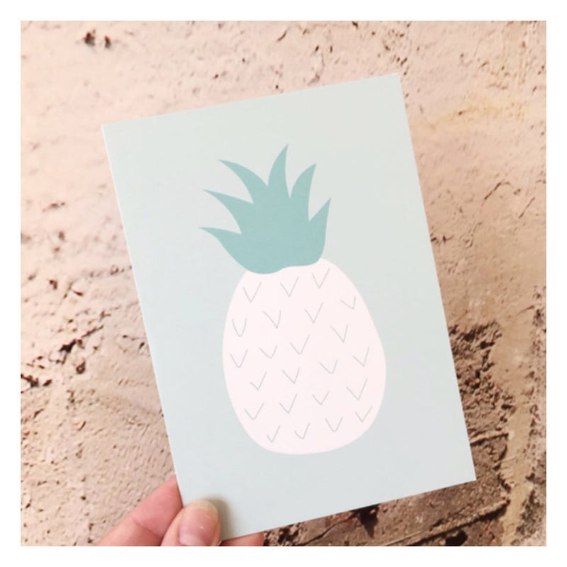 "Postkarte ""White Pineapple"" - welovebubbles"