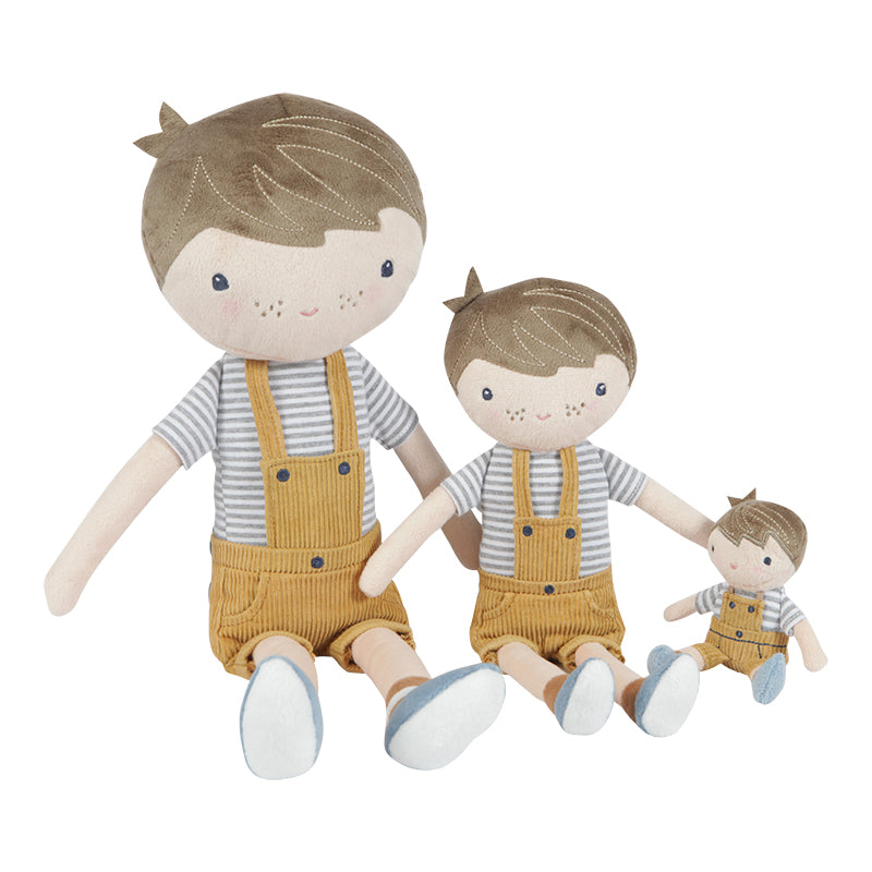 Kuschelpuppe Puppe Jim - Maxi 50 cm - LITTLE DUTCH