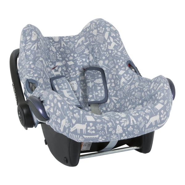 Babyschalen Bezug Adventure Blue - welovebubbles