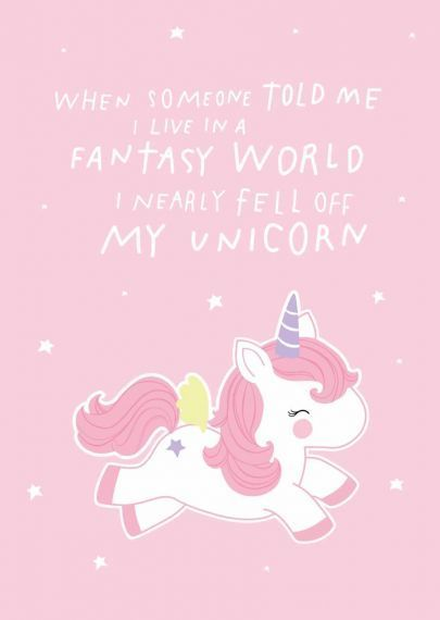 "Karte ""Fantasy Unicorn"" - welovebubbles"