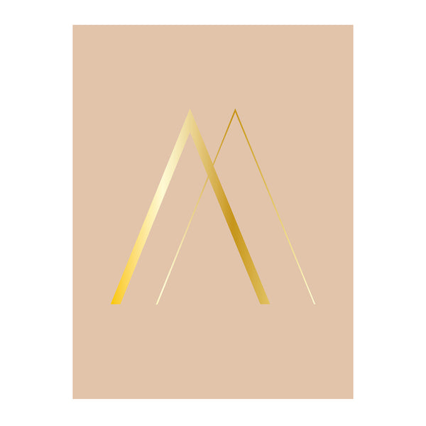 "Poster Rose Gold ""A"" - Bloomingville"