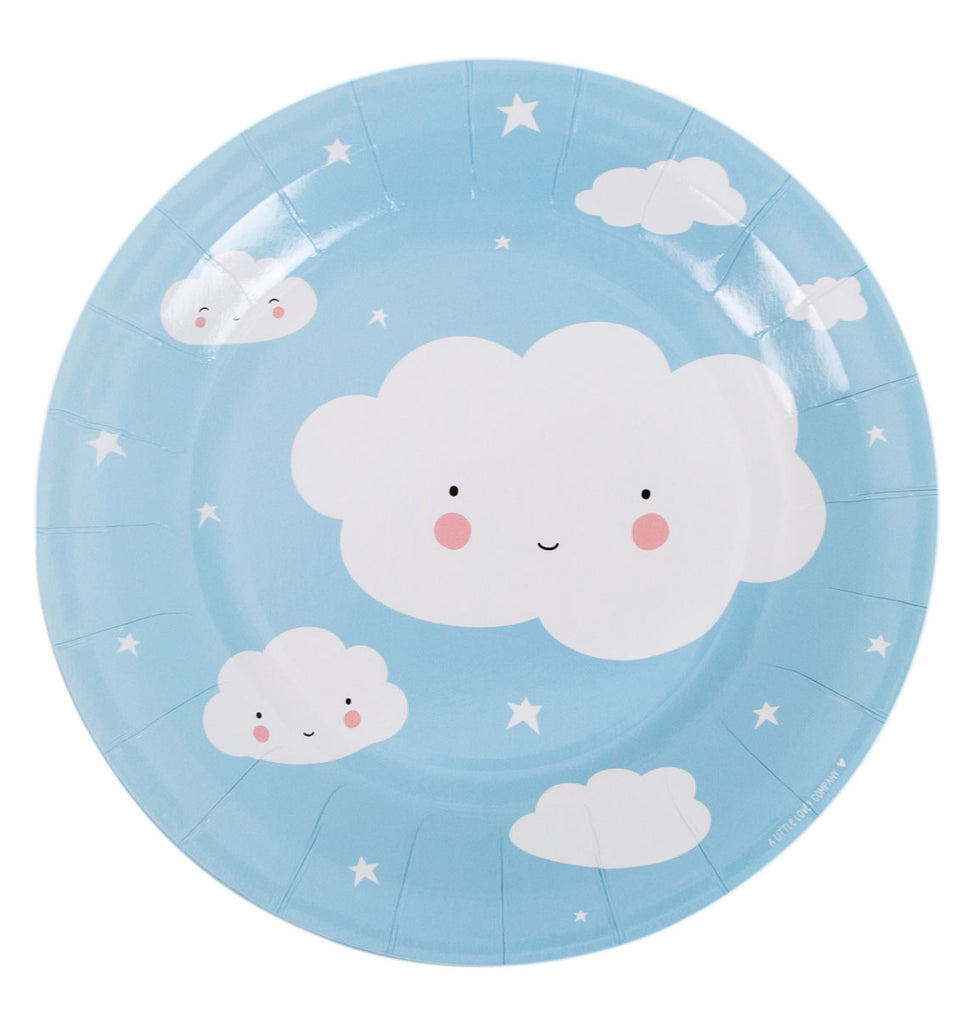 Pappteller Cloud - welovebubbles