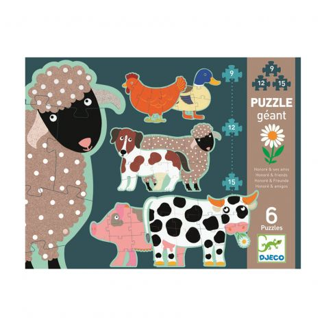 "Puzzle ""Honoré & Friends"" - DJECO"