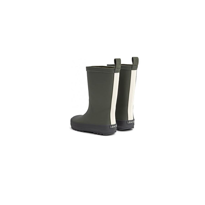 "Gummistiefel River Rain Boot ""Hunter Green/Black Mix"" - Liewood"