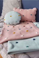 Babydecke - Knitted Blanket GOTS, Dots Light Mint - Lässig