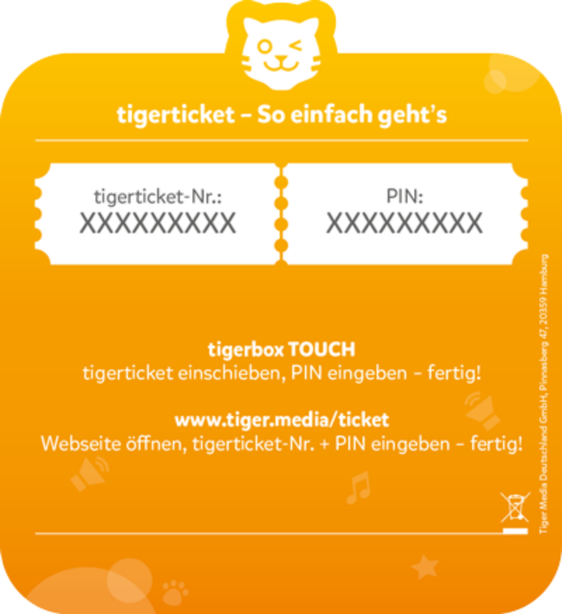 tigerticket 3 Monate  - Tiger Media