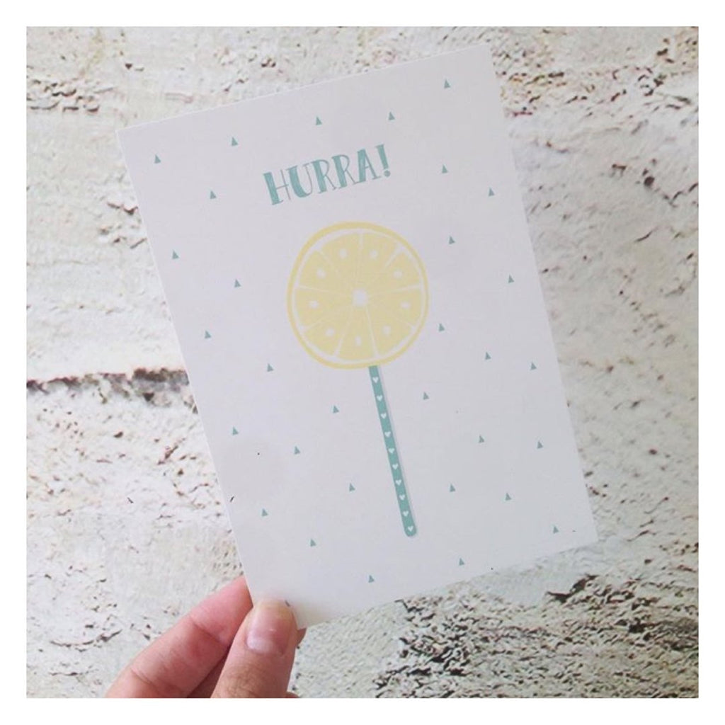 "Postkarte ""Lolli Lemon Mint"" - welovebubbles"