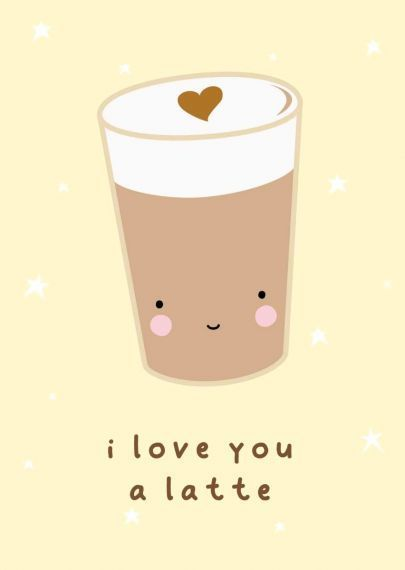 "Postkarte ""Latte Love"" - welovebubbles"