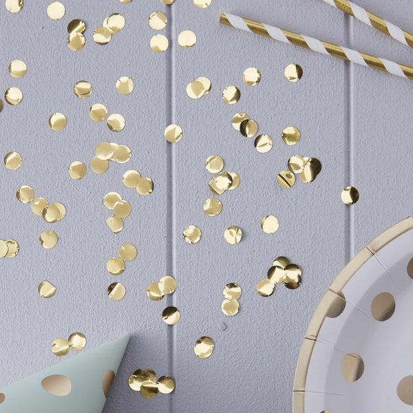 Gold Confetti - welovebubbles