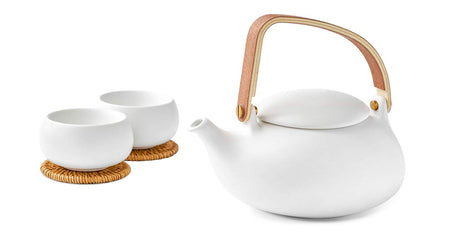 White Zen Tea Pot Set