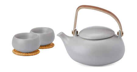 Grey Zen Tea Pot Set
