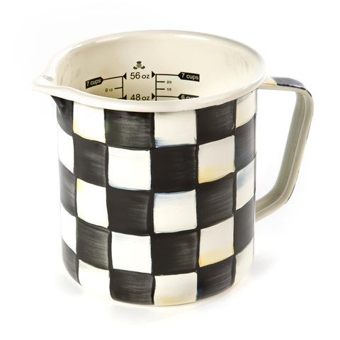 Courtly Check Enamel Measuring Cup