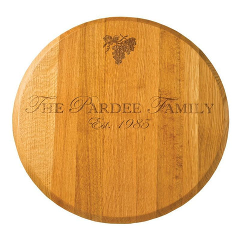"22 "" Round Lazy Susan - Oak"