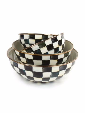 Courtly Check Enamel Everyday Bowl  XLarge