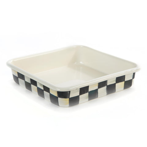 Courtly Check Enamel Baking Pan 8' Square