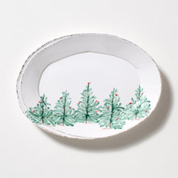 Lastra Holiday Oval Platter Small