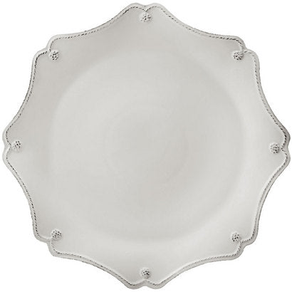 Berry & Thread  Scallop Charger Plate-  White