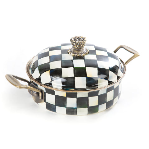 Courtly Check Enamel 3 Qt Casserole