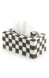 Courtly Check Enamel Standard Tissue Box Cover