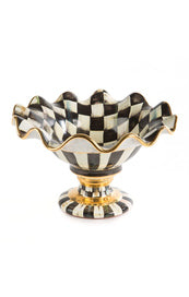 Courtly Check Ceramic Compote