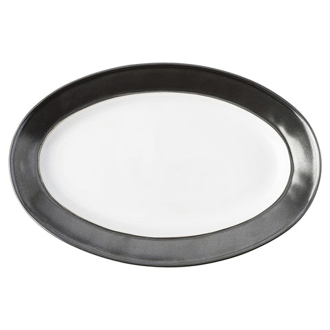Emerson White/Pewter Oval Platter