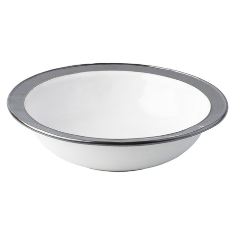 Emerson White/Pewter Serving Bowl