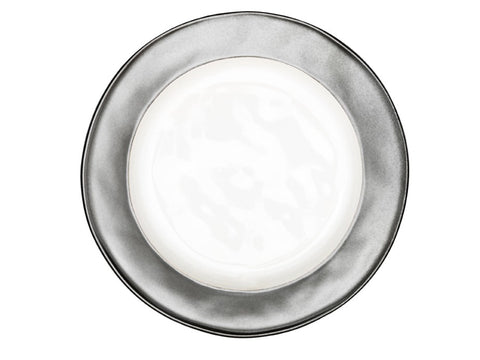 Emerson White/Pewter Salad/Desert Plate