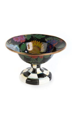Flower Market Small Compote Black