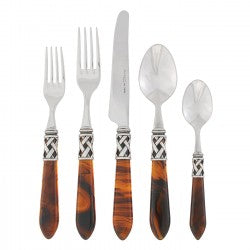 Aladdin Antique 5 Pc. Place Setting  Tortoiseshell