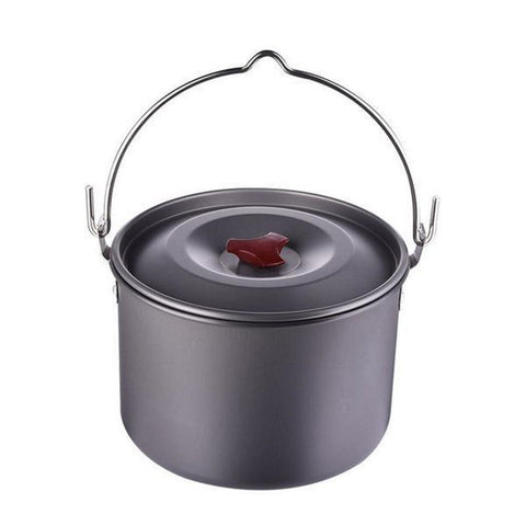 5L Hanging Outdoor Cooking Pot Aluminum Alloy
