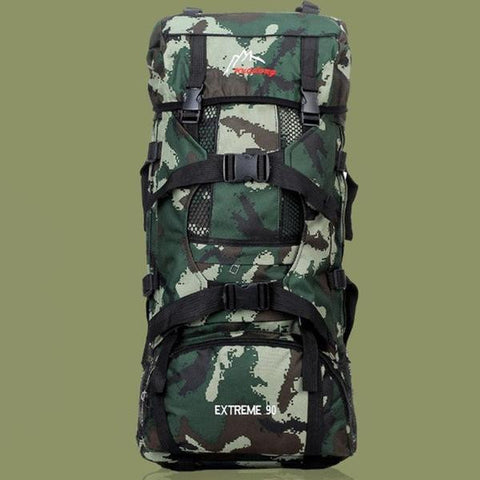 90L X-Large Capacity Camouflage Hiking Backpack - 3 Color Options - Weekend Tactial Supply