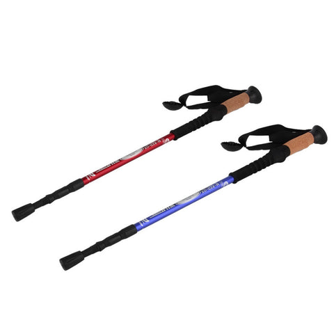 Ultra-light Adjustable Telescopic Aluminum Alloy Hiking Stick 1pc - 3 Color Options - Weekend Tactial Supply