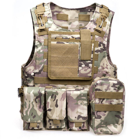 Hunting Military Style Tactical Vest  Molle System Vest - 7 Color Options - Weekend Tactial Supply