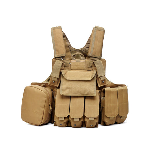 Tactical Military Style Molle System Vest With Pouches- 2 Color Options - Weekend Tactial Supply