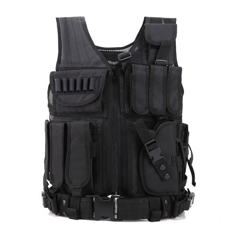 Military Style Tactical Vest Army Molle System Vest - 5 Color Options, Left-Handed Option - Weekend Tactial Supply