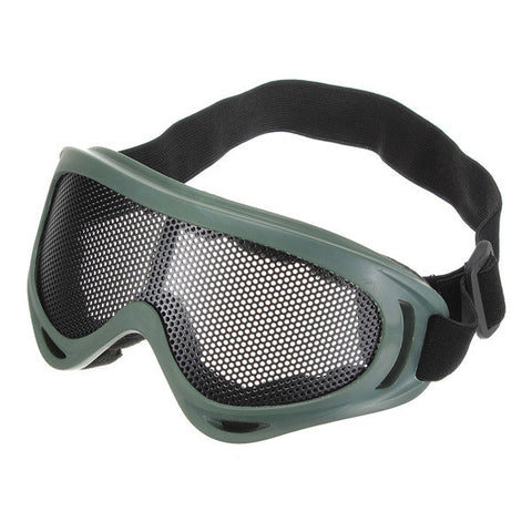 Tactical Shock Resistance Metal Mesh Goggle - 3 Color Options - Weekend Tactial Supply