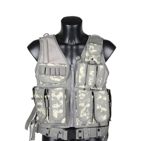 Military Style Tactical Vest - 6 Color Options - Weekend Tactial Supply