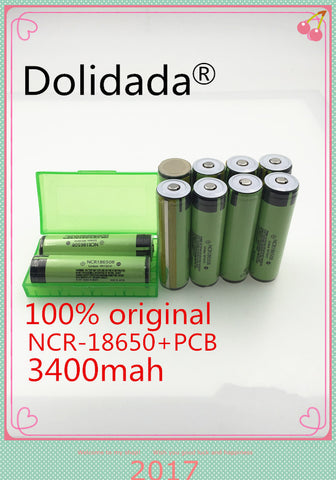 3400mah 18650 3.7V Rechargable Lithium Battery - Weekend Tactial Supply