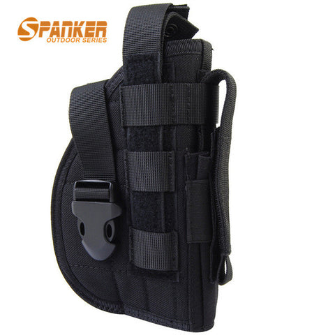 Tactical 1000D Nylon Pistol Holster For Right Hand Molle System - 4 Color Options - Weekend Tactial Supply