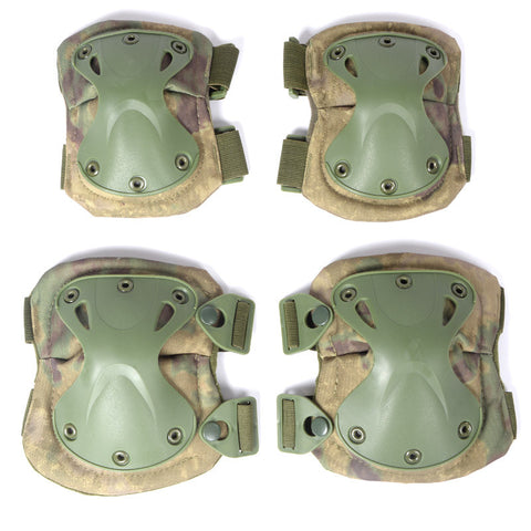 Military Style  Protective Knee & Elbow Pads - 10 Color Options - Weekend Tactial Supply