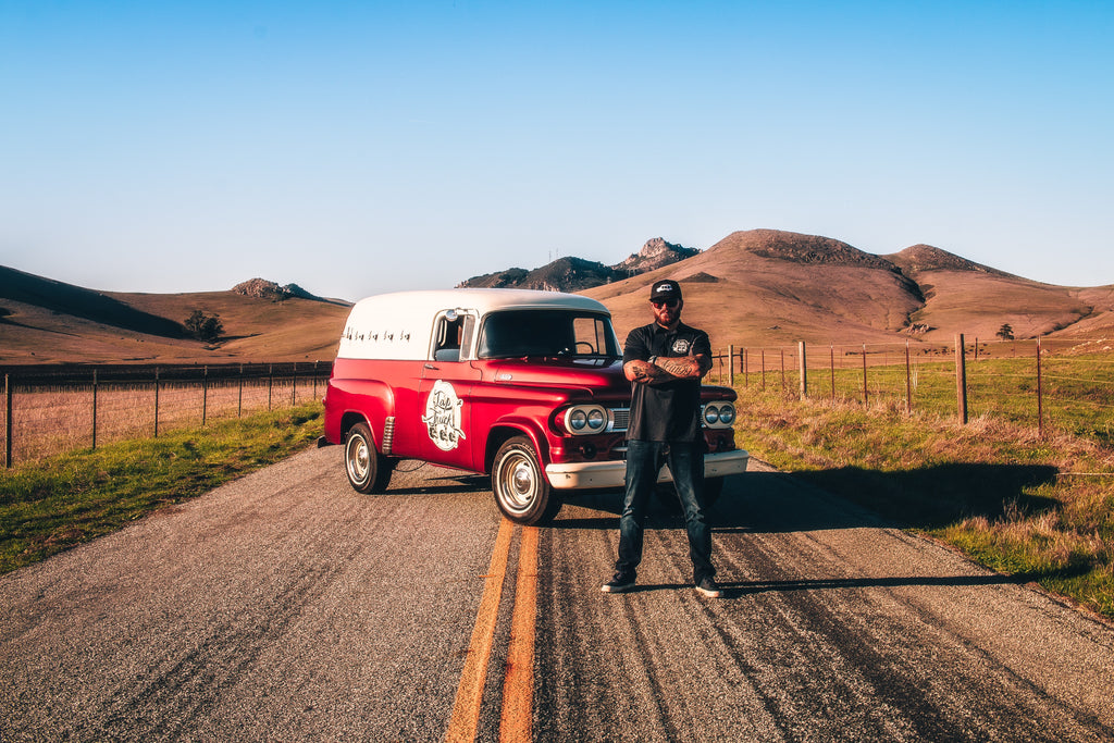 Josh James of Tap Truck SLO Featuring his 65 Dodge panel truck