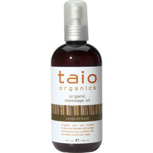 Taio Organic Unscented Massage Oil 8oz.